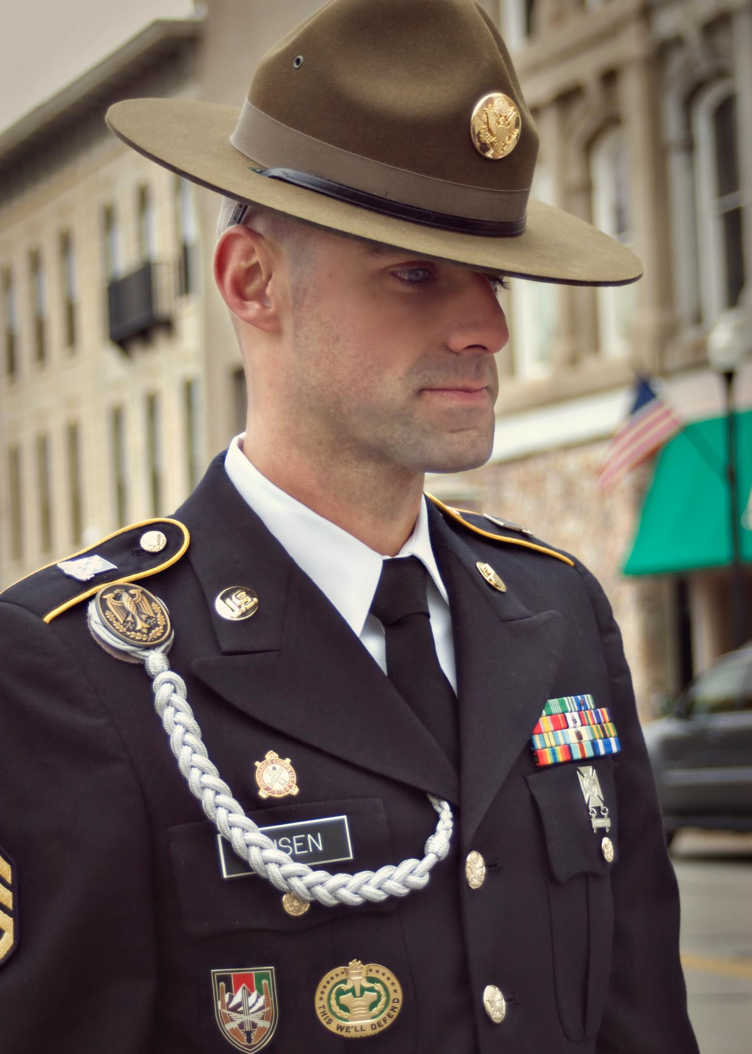DS Busen in the 2011 Veteran s Drill Sergeant Hat