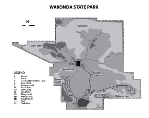 Wyconda State Park Map (Click to view larger)