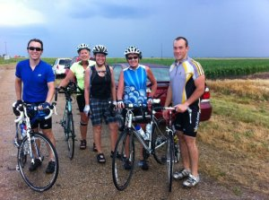 Weather+Distance=Adventure (So says blogger Clinton Begley) Biking+Thunderstorm also equals Danger!