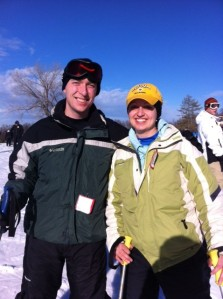 Justin and I on the slopes around midday.