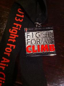My Fight for Air Climb Medal