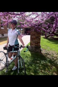 It's me and my bike again! Notice the matching Bontrager jersey!