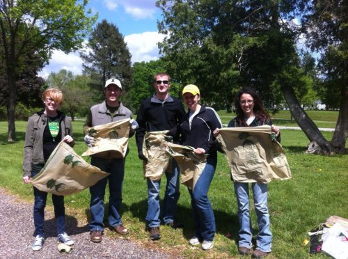 Earth Day 2012! On far right is Ashley, who organizes this event each year!