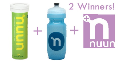 2 Winners will win One tube of Nuun, One Water Bottle, and One Sticker!