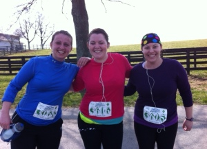 Kim and Laura and myself at around mile 8...we stopped for a picture!!