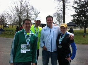 Doug, Glenn, Race Director Eric and I after the race (and after a Kentucky Ale!)