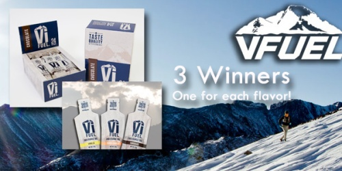 3 Winners will be chosen to get a box of V Fuel Endurance Gel.  It's awesome.