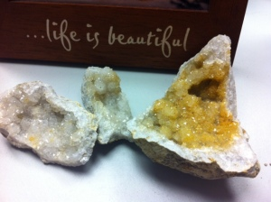 The geodes on my desk.