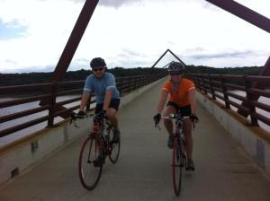 Jayme and Ryan on the High Trestle Bridge