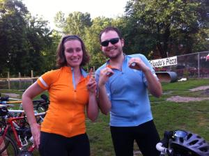 Jayme and Ryan finished their first century ride!