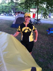 Riding and camping are a great combination! This is at RAGBRAI 2012