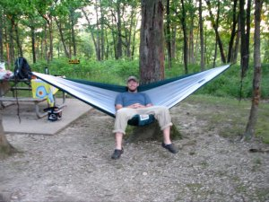 I love Ryan's trail hammock.  Lightweight and even has a bug shield.